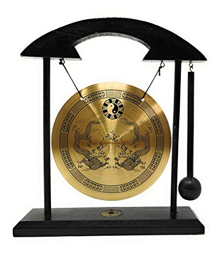 Zen Art Brass Feng Shui Desktop Gong by Asian Home