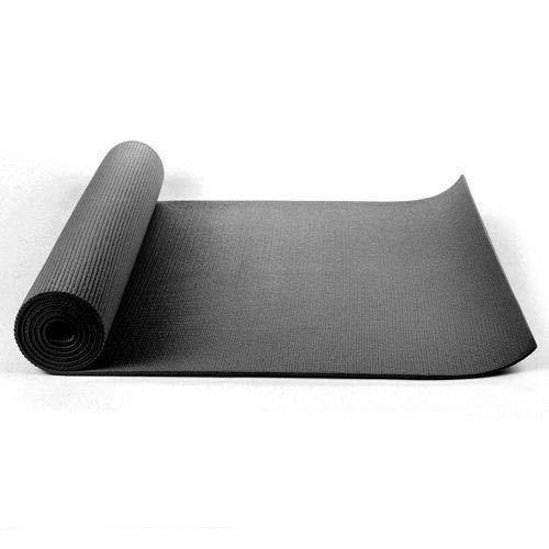 Kabalo - 173 cm lang x 61 cm breit - EXTRA DICK Schwarz 6 mm - rutschfeste Yogamatte mit Tragegurt, auch für Übung/Pilates/Gymnastik/Camping etc