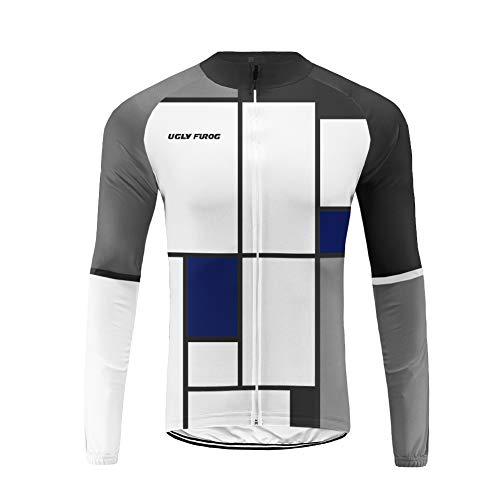 Uglyfrog Maglia Ciclismo Boby Tuta Manica Lunga Bretelle da MTB per Uomo MCP05
