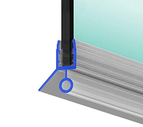 Duschdichtung 80cm Dichtung Dusche für 6mm, 7mm und 8mm Glasdicke, Duschtürdichtung M4 Duschkabinendichtung PVC, Duschdichtungsprofile transparent Duschtür Dichtung mit Gummilippe