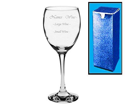 Copa de vino personalizable con nombres grabados, tamaño grande/pequeño