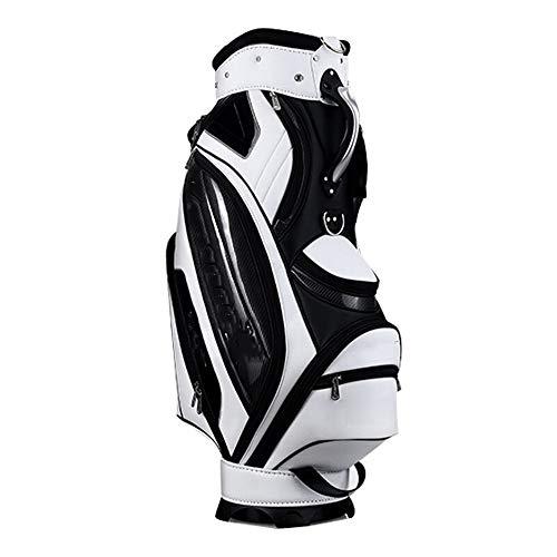 Hhjkl Golftrolley für Damen und Herren, wasserdicht, Golftasche, Nylon, Golftasche, leicht, Golftasche, weiß, 130x26x46cm
