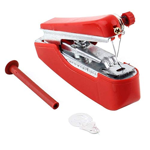 TEHWDE Household Desktop The Best' 1pcs Useful Portable Needlework Cordless Mini Hand-Held Clothes Fabrics Sewing Machine Portable Electric Stitch Household Tool for Fabric, Clothing,Crafts