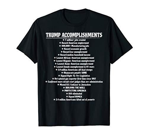 Trump Accomplishments Promises Made Promises Kept Pro Trump T-Shirt