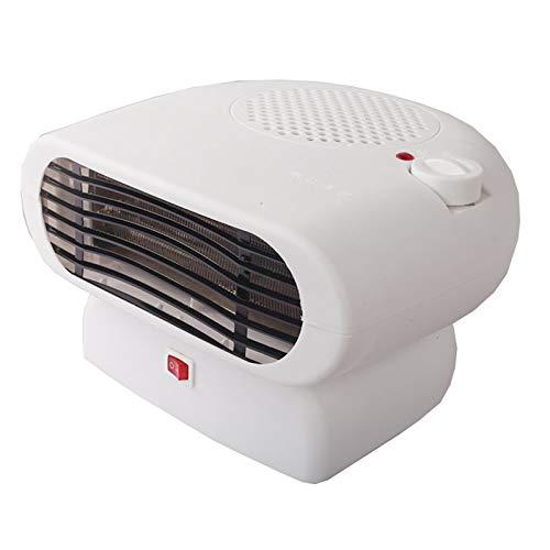 HOKIT Eléctrico Calefactor con Suministro De Aire Giratorio De 120 ° 100W / 200W / 500W Ajuste De Tres Velocidades Agrandar La Salida De Airecaliente Y Frio Proposito Doble para El Baño Oficina