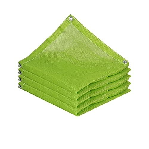 AWSAD Sonnenschutztuch, Outdoor-Sonnenschutznetz, Sonnenschirmbelüftung, Atmungsaktiver Sonnenschutz & Wasserdicht, Balkongarten, Größe 23 (Color : Green, Size : 4x4m)