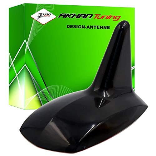 ANTB898 - SHARK ANTENA Antena Aleta de tiburón en forma de coche decorativo Antena DUMMY antena de techo NEGRO SPORT