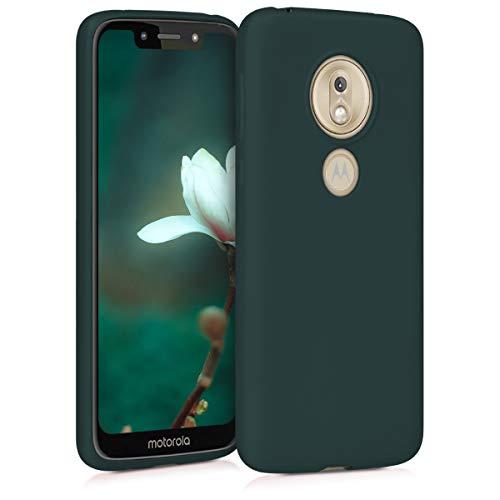 kwmobile Case kompatibel mit Motorola Moto G7 Play (EU-Version) - Hülle Silikon metallisch schimmernd - Handyhülle Metallic Petrol