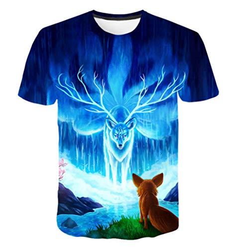 DMStyle Harajuku Lion 3D-Druck Cooles Camiseta Männliches/weibliches Sommer-Top-T-Shirt Mode Lässig Tierisches T-Shirt @ Good_M