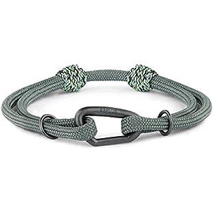 8b+ + Jewellery Black Forest Bracelet, Titan - Karabiner black matt
