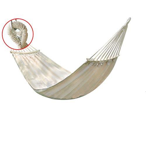 RSdfjLfjd Eenpersoons & Dubbele Rollover Preventie Hangmatten Outdoor/TuinVrije tijd Camping Draagbare Strand Swing Bed Boom Opknoping Hangmat 200x80cm(79x31inch) Beige