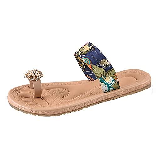 ciabatt mare comod infradito donna zeppa mare scarpe infradito donna elegante ciabatte da donna da casa espadrillas donna plateau sandali eleganti nero sandalo oro (A12-Blue,39)