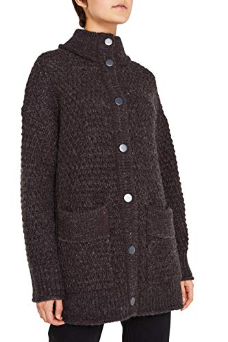 edc by ESPRIT Damen 119CC1I006 Strickjacke, Grau (Dark Grey 5 024), Small (Herstellergröße: S)