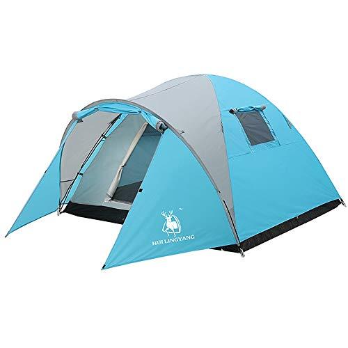 JOMSK Mochila for Carpas Family Camping Cuatro Estaciones al Aire Libre Impermeable a Prueba de Agua Carpa portátil Carpa Familiar (Color : Blue, Size : One Size)