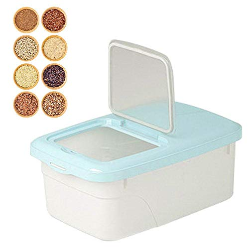 Goglor Reisbehälter 5 kg Müslibehälter mit BPA-freiem Kunststoff und luftdichten Rädern, Reisbehälter, Küchen-Organisation, Lebensmittel-Aufbewahrungsbox mit Deckel zur Aufbewahrung von Mehl