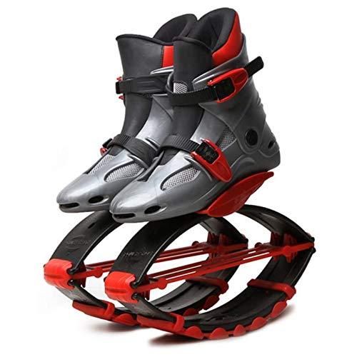 GHH Botas antigravedad para Correr y Saltar Adolescentes Young Jumps Zapatos Deportivos para Adelgazar Uso En Interiores Y Exteriores Gravedad Botas,Gray Red,30/32EU