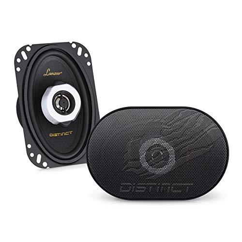 Lanzar Distinct 4' x 6' Inch Car Stereo Speakers   2-Way Pro Audio Component Speaker Pair (4x6 in, 120 Watt)