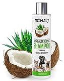 MYANIMALY hypoallergenes Shampoo mit Kokosöl und Aloe-Vera 250 ml, nährendes Shampoo für...