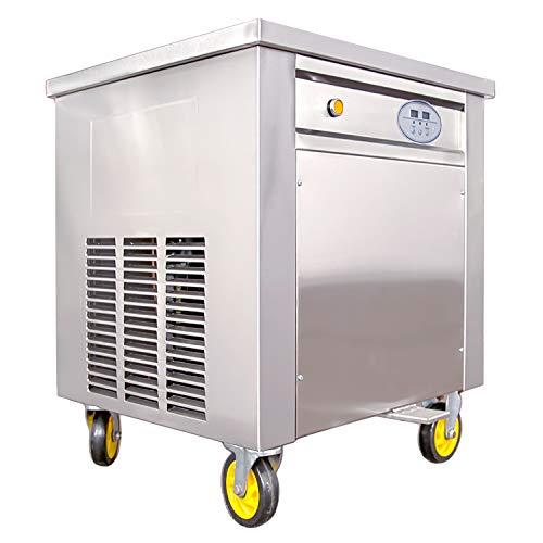 Profi Softeismaschine Roll-Eismaschine mit Kompressor und Eisplatte Ø50cm Eiscreme Maker für Gastronomie