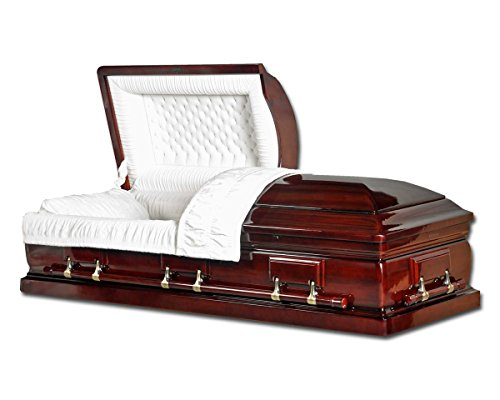 Overnight Caskets - Mahogany Solid Wood With Velvet Interior