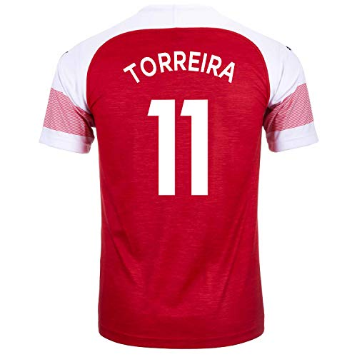 PUMA TORREIRA #11 Arsenal FC Home Youth Soccer Jersey 2018-19 (YXL)