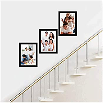 SAF Set of 3 Collage Synthetic Framed with Acrylic Glass Photo Frame (9 inch X 12 Inch - 3)