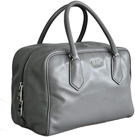 Prada Women s 1BB010 ASK F0MW4 Grey Leather Shoulder Bag product image