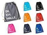 DU. ICH. MALLE. Rucksack oder Jutebeutel Baumwolle Tasche | Festival | Mallorca | Beutel |...