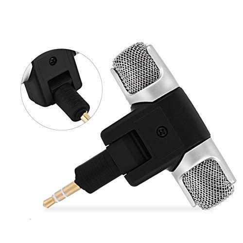 Tonysa Mini Micrófono 3,5 mm Jack Chapado en Oro, Micrófono Conexión Directa a la Grabadora para PC, Tablet, Grabadora, MD, Cámara