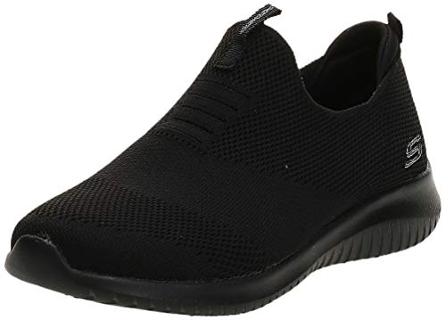 Skechers Women's Ultra Flex-First Take Slip On Trainers, Black (Black BBK), 6 UK 39 EU