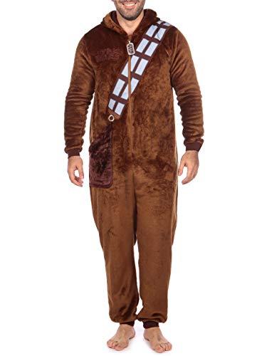 Star Wars Mens Chewbacca Onesie Size Small Brown