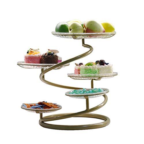 MSF Bestek Rekken Smeedijzer Multi-layer Fruit Plate Dessert Plate Cake Stand Snack Lade Creatieve Bruiloft Party Snacks Gebak Rack, Kaas Platen, Decoratieve Bowls