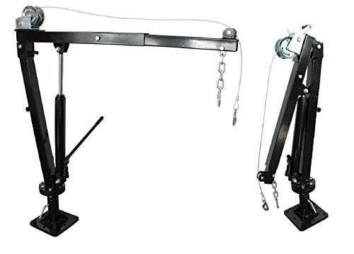 TrutzHolm® Pick Up Kran mit Seilwinde Pickup Ladekran Schwenkkran Hebekran Pritsche 900 kg