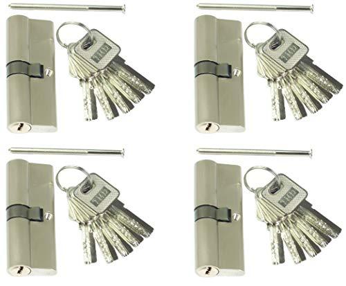 4 Profilzylinder 60 mm 30/30 Türschloss Zylinder 20 Schlüssel gleichschließend