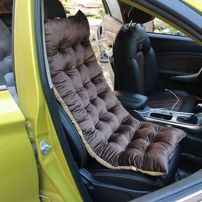 DOOT Portable Not-slip Bench Cushions,Cotton Soft Sofa Pads Car Chair Cushion Four Seasons Universal,Chaise Lounger Cushion Velvet Thick Sofa Cushion-Brown B 45x110cm(18x43inch)