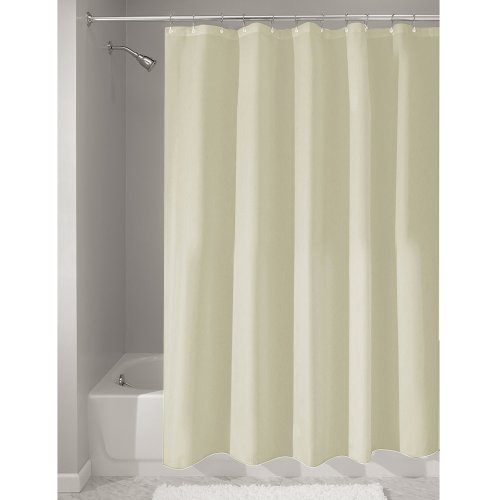 Price comparison product image iDesign Poly Bath Curtains,  Long Shower Curtain,  Made of Polyester,  Sand