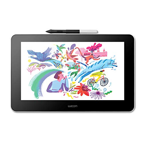 "Wacom One Creative Tavoletta Display con Software Inclusi per Schizzi e Disegni su Schermo, Display da 13.3"" Full Hd 1920 x 1080, Colori Vivi, Penna Precisa - Adatta per l'Home Office e l'E-Learning"
