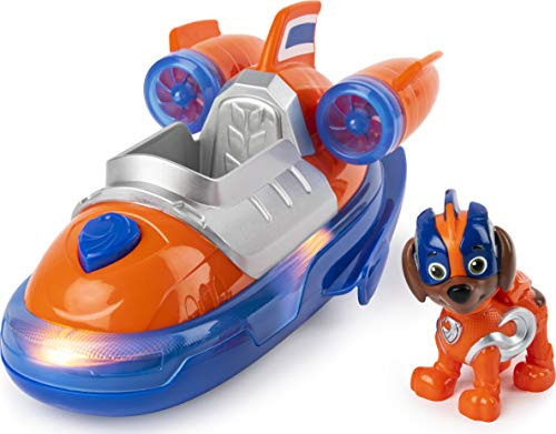 PAW Patrol PAW Patrol Mighty Pups Super Paws Luftkissenboot mit Zuma-Figur (Basic Themed Vehicle)