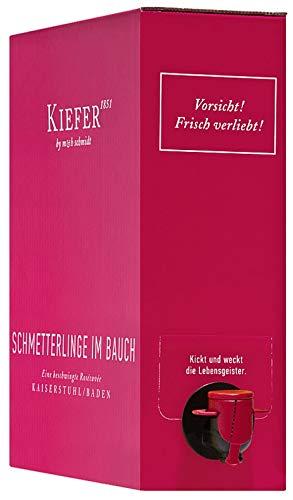 Schmetterlinge im Bauch Rosé 3,0 l Bag in Box Weinschlauch 2019 - Weingut Kiefer | halbtrockener Roséwein | deutscher Sommerwein aus Baden | 1 x 3,00 Liter