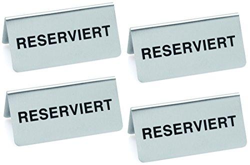 Tischaufsteller Reserviert 4 Stück
