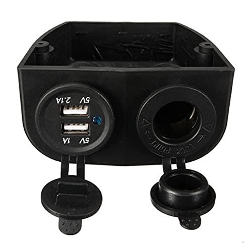 LINGLING Peter LI Doble Barco Caravana Coche USB Cigarrillo Encendedor Socket Splitter 12V Adaptador de Cargador