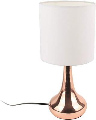 THE HOME DECO FACTORY HD3333 Lampe Métal Blanc/Cuivre