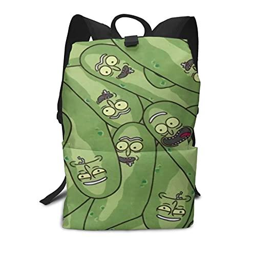 Pickle Rick - Mochila para portátil con mochila para mujer y hombre, estilo vintage, mochila universitaria, bolsa de viaje para portátil