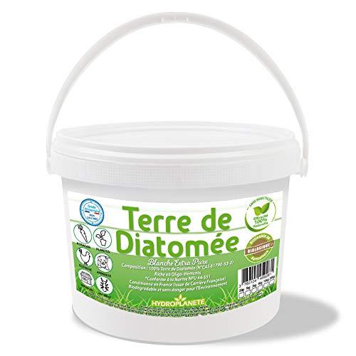 HYDROPLANETE Terre de Diatomée Blanche 200g 1kg 2kg 10kg 20kg - Grade Alimentaire, Haute pureté et Utilisable en Agriculture Biologique - Origine France (2kg)