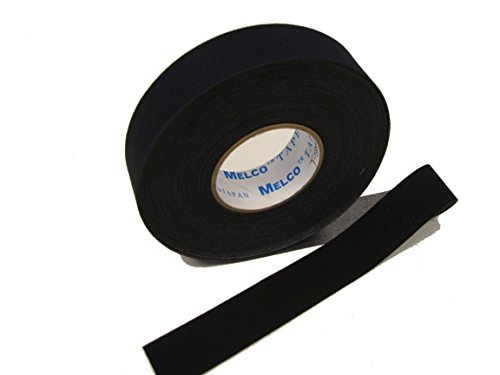Nahtabdichtungsband Melco T-5000 - Heißschmelzkleber Neoprenanzug/Scuba Tape - 5 Meter - gelten mit Bügeleisen (schwarz, 25 mm Breite)