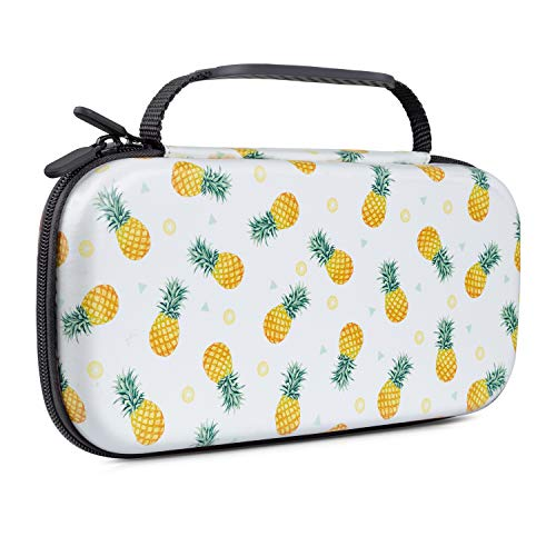 Lokigo Fruit Carry Case for Nintendo Switch, Nintendo Switch Case Girls Hard Shell Protective Travel Case with 20 Game Card Slots for Nintendo Switch Console Joy-Con & Accessories (Pineapple)