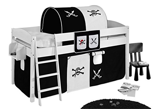 Lilokids Hängetaschen Pirat Schwarz Weiß - für Hochbett, Spielbett und Etagenbett