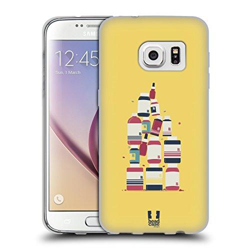 Head Case Designs Medicina Professioni - Design Medici Cover in Morbido Gel e Sfondo di Design Abbinato Compatibile con Samsung Galaxy S7