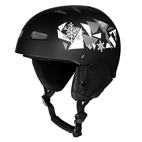 CLISPEED Ski Helmet Skateboard Helmet Head Protection Gear for Women Men Youth
