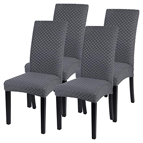 SearchI Dining Room Chair Covers Set of 4, Spandex Fit Stretch Removable...